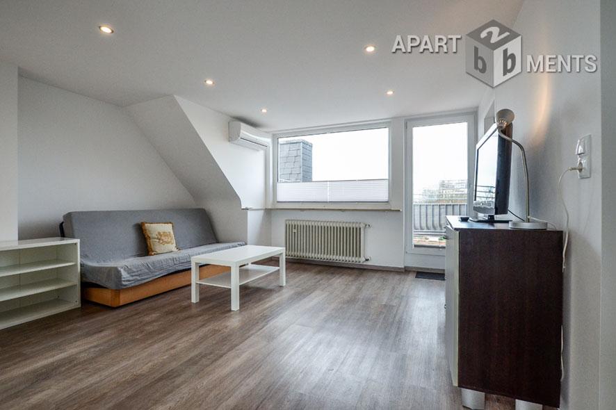 Modern möblierte Wohnung mit großer Dachterrasse in Köln-Niehl
