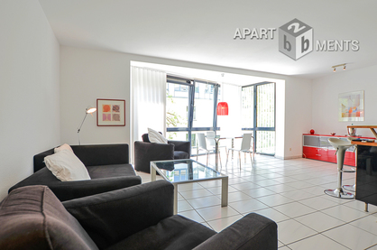 Modern furnished 2 room apartment of upscale category in Cologne-Neustadt-Süd