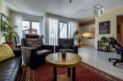 Modernly furnished apartment close to the Rhine in Cologne-Mülheim