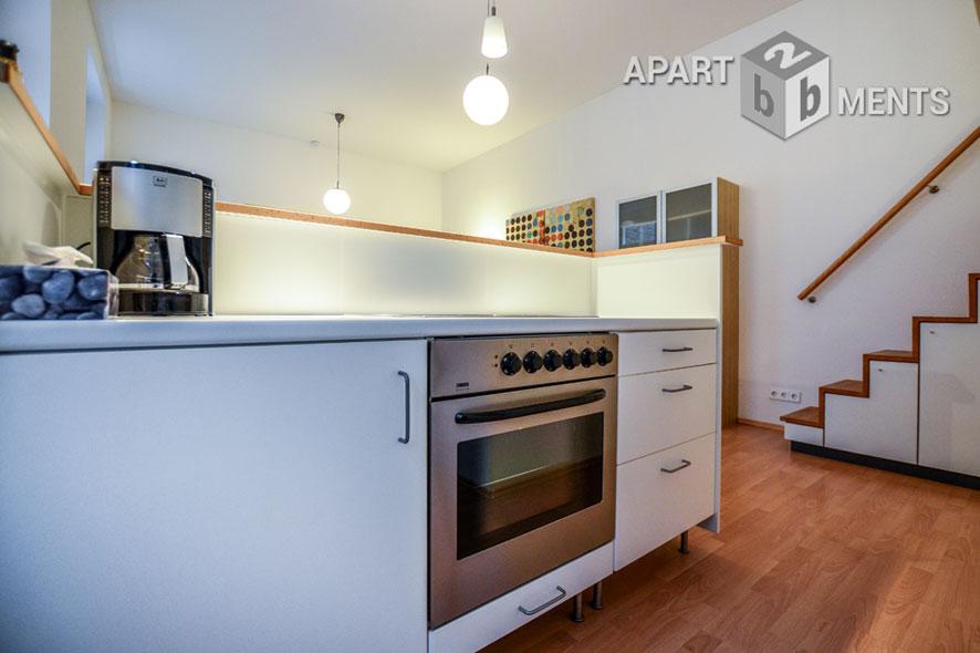 Modern möbliertes Apartment mit Empore in Köln-Neustadt-Nord