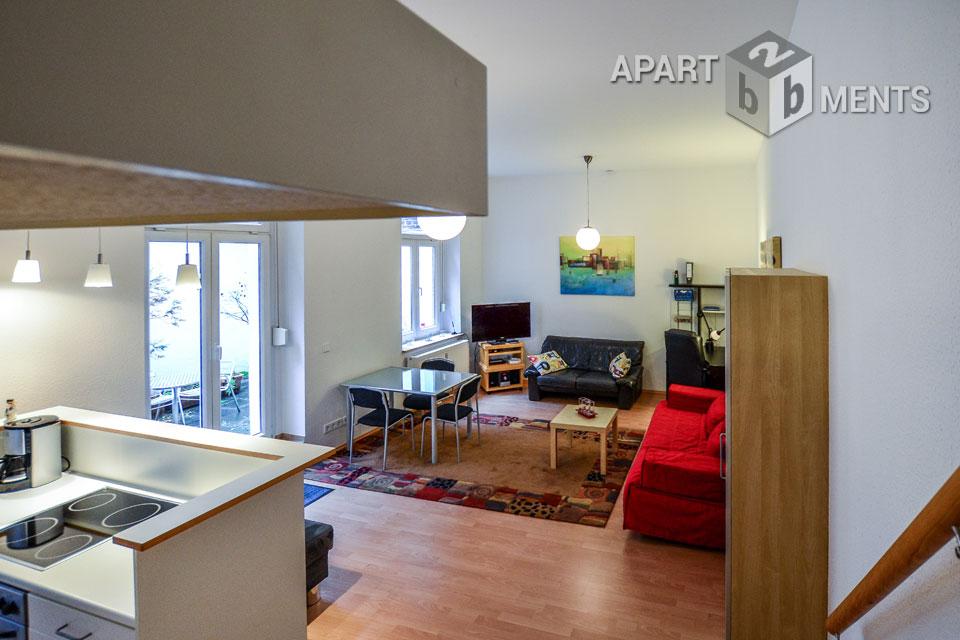 Modern möbliertes Großraumappartement mit Empore in Köln-Neustadt-Nord