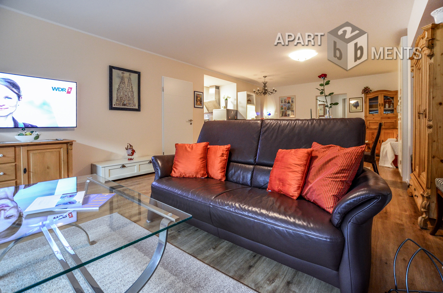 High-quality furnished and quiet apartment in Hürth-Efferen