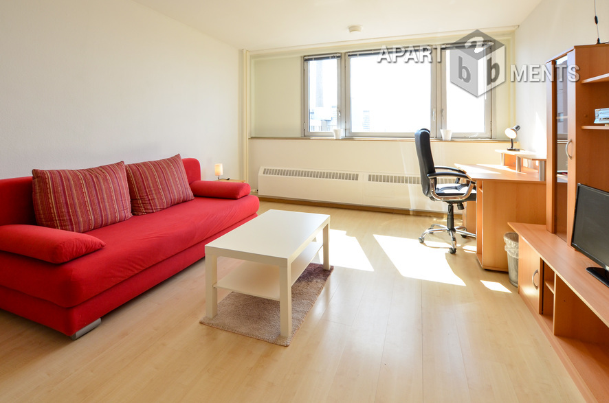 Modern möbliertes Apartment im Herkuleshochhaus in Köln-Neuehrenfeld