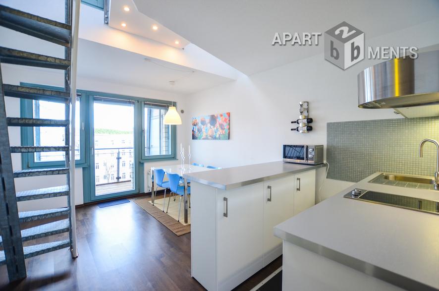Modern möblierte Maisonettewohnung mit Dachterrasse in Köln-Neustadt-Süd