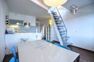 Modern möblierte Maisonette Wohnung mit Dachterrasse in Köln-Neustadt-Süd