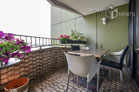 Furnished apartment with panoramic viewon the Rhine from the balcony in Köln-Neustadt-Nord