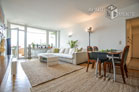 High quality furnished apartment with balcony and panoramic view of the Rhine