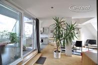 Helle möblierte Maisonette mit Dachterrasse im Herzen des belgischen Viertels in Köln-Neustadt-Süd
