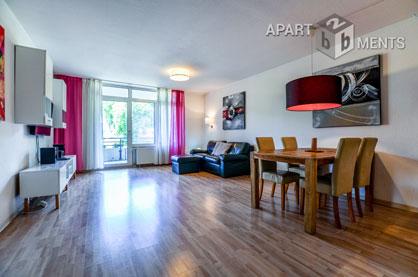 Modern möblierte Wohnung mit großem Balkon in Köln-Niehl