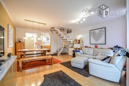 Moderne möblierte Wohnung/kleines Reihenhaus mit guter Ausstattung und angenehmen Umfeld