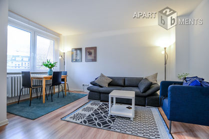 Modern möblierte Wohnung mit Balkon in Köln-Altstadt-Nord