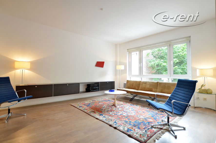 Furnished apartment in Cologne Altstadt-Nord with view to the Klingelpütz-Park