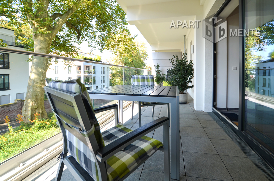 Furnished luxury category apartment in the exclusive Pandion Belvedere in Cologne-Müngersdorf