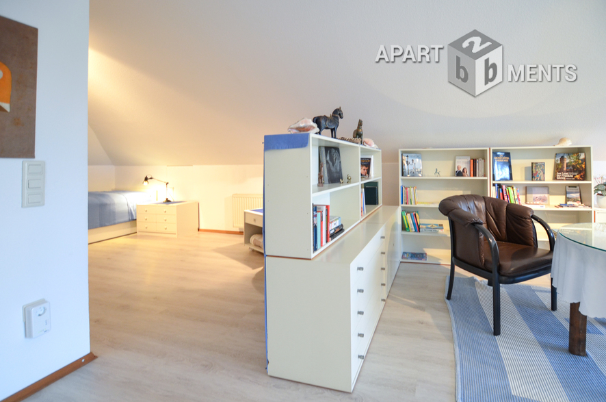 Timelessly furnished and light-flooded studio flat in Leverkusen-Schlebusch