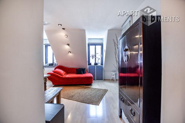 Modern möblierte 2,5 Zimmer Wohnung mit Dachterrasse in 1a  City Lage
