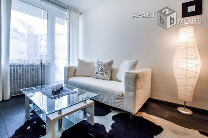 Modern möblierte  2-Zimmer-Wohnung mit Balkon in Köln Neustadt-Süd