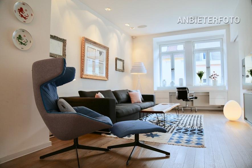 Offen gehaltene 2 Zimmer-Wohnung der Top-Kategorie mit Balkon und ausgesucht hochwertiger Ausstattung