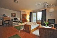 Modern möblierte 1 Zimmer Wohnung mit Balkon im Agnesviertel