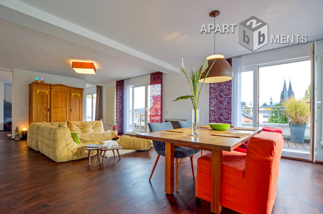 Luxuriös möbliertes Penthouse mit Loftcharakter in Köln-Altstadt-Nord
