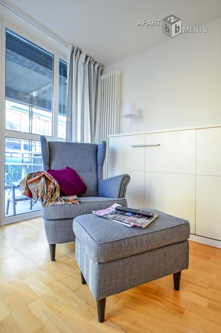 Modern möbliertes Studio in Köln-Neustadt-Süd