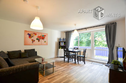Furnished 3-room flat with balcony in Cologne-Mülheim