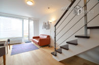 Modern furnished penthouse with two floors in Cologne-Neustadt-North