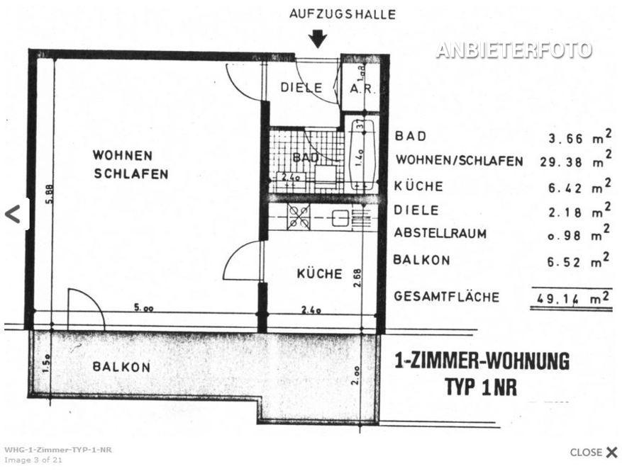 Modern möblierte Wohnung mit Balkon in Köln-Weiden