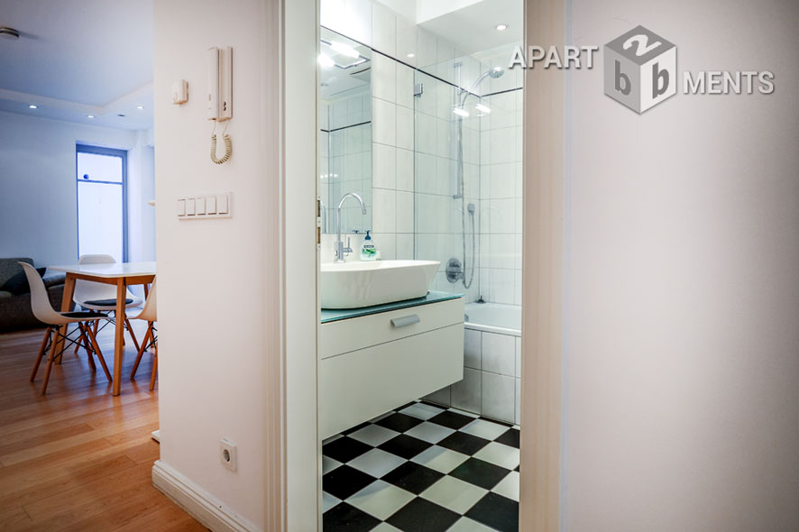 High quality furnished spacious apartment with atrium in Cologne-Bayenthal