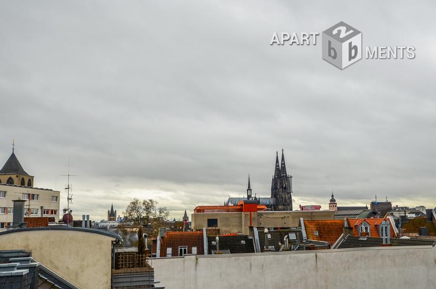Möblierte City-Maisonette mit Domblick in zentraler Lage in Köln-Altstadt-Nord
