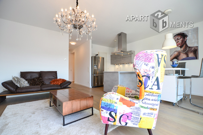 Möblierte Wohnung in einer außergewöhnlichen Wohnanlage in Köln-Altstadt-Nord