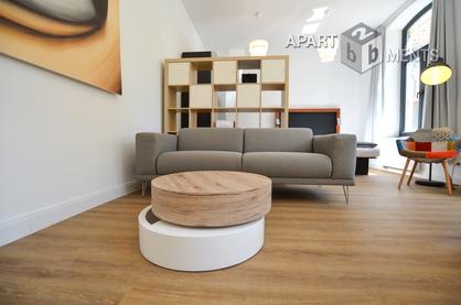 Modern möblierte Loft-Wohnung mit Balkon in Köln-Neustadt-Süd