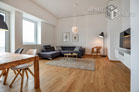 High-quality furnished apartment with view on the Rhine in Cologne-Bayenthal