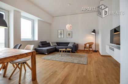 Hochwertig möblierte Wohnung mit Blick auf den Rhein in Köln-Bayenthal