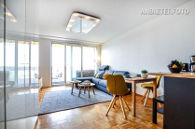 Modernly furnished apartment with skyline view in Cologne-Riehl