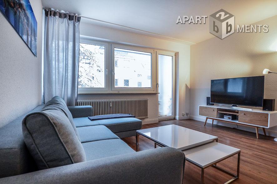 Modern möbliertes Apartment mit Balkon in Köln-Neustadt-Süd