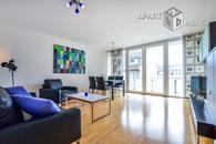 Exklusiv  möblierte 3-Zimmer-Wohnung mit 2 Balkonen in Köln-Altstadt Süd