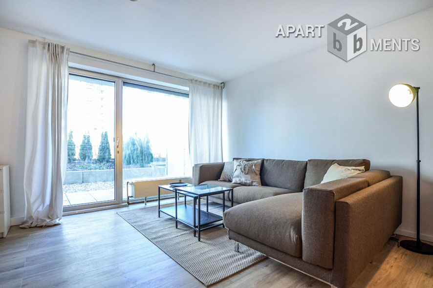 Möblierte Wohnung mit Terrasse in Köln-Neustadt-Nord nahe Stadtgarten