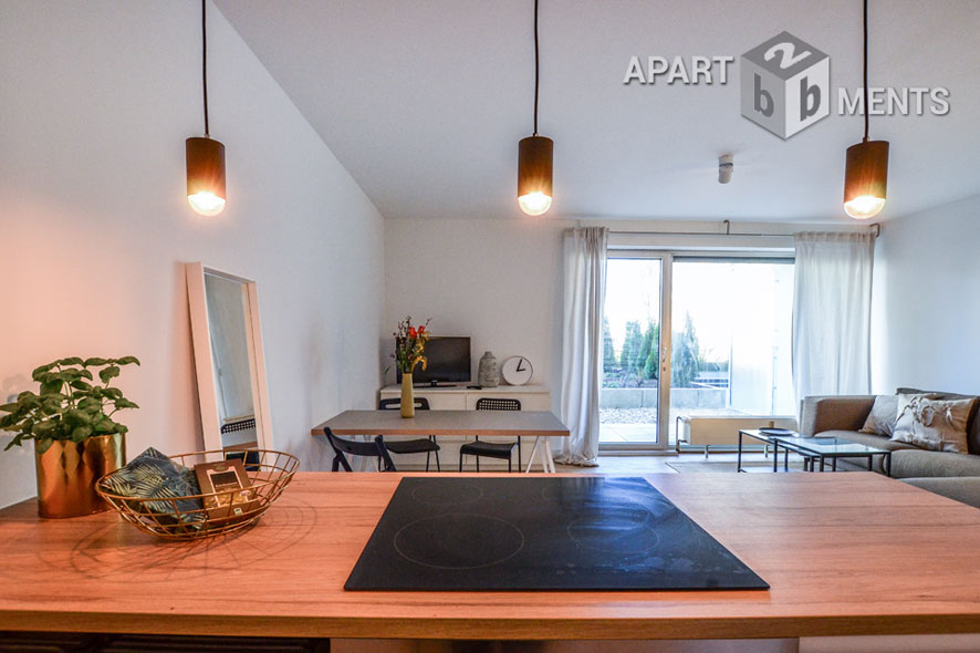 Furnished apartment with terrace in Cologne-Neustadt-Nord near Stadtgarten