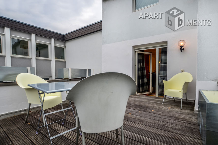 Excellent furnished apartment with south terrace in Cologne-Altstadt-Süd