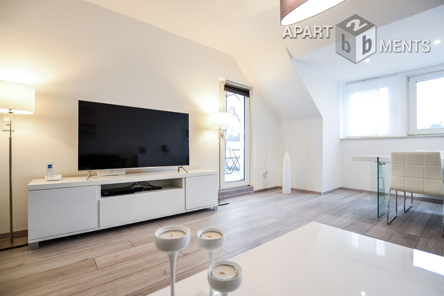 Exklusiv möblierte Wohnung mit Dachterrasse in Köln-Wahn nahe Flughafen