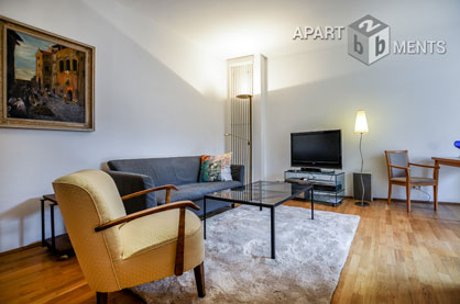High-quality furnished and centrally located apartment in Cologne-Altstadt-Süd