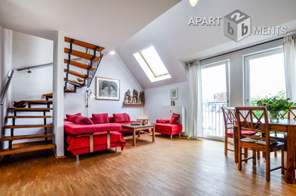 Stilvoll möblierte 3-Zimmer-Maisonette Wohnung in Köln-Neustadt-Süd