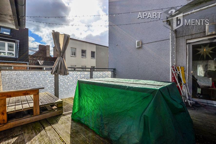 Modern möblierte Wohnung mit Dachterrasse in Köln-Altstadt-Nord