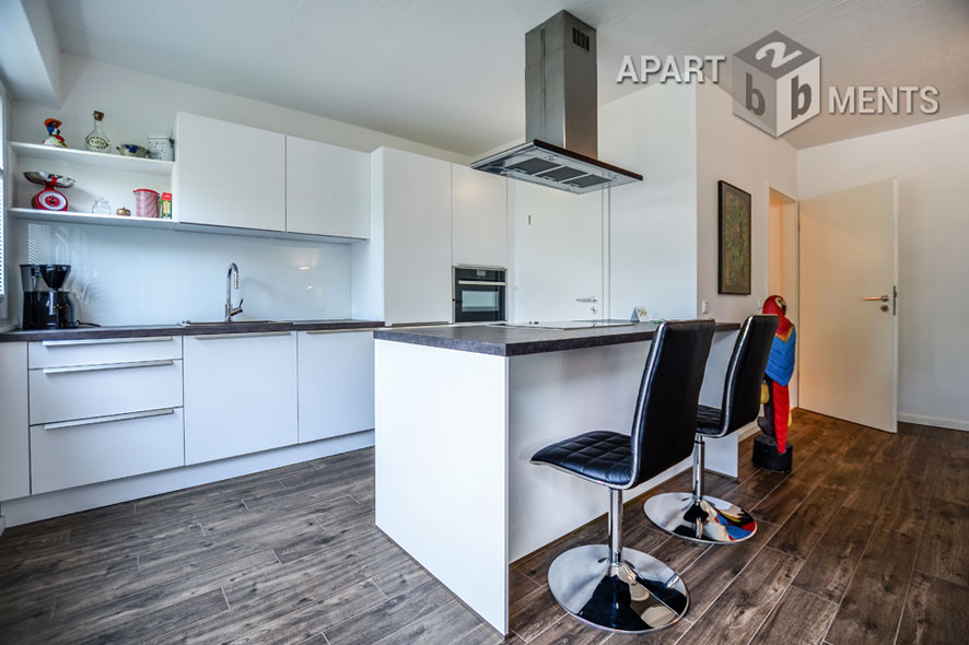 Exclusive furnished flat with design elements in Cologne-Altstadt-Nord