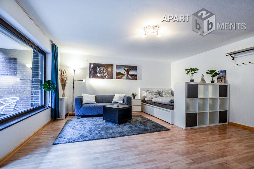 Möblierte Studio-Wohnung mit Terrasse in Köln-Fühlingen