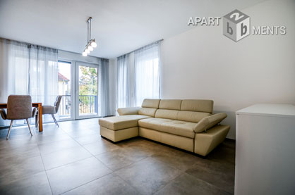 Modern furnished apartment with balcony in Cologne-Mehrheim