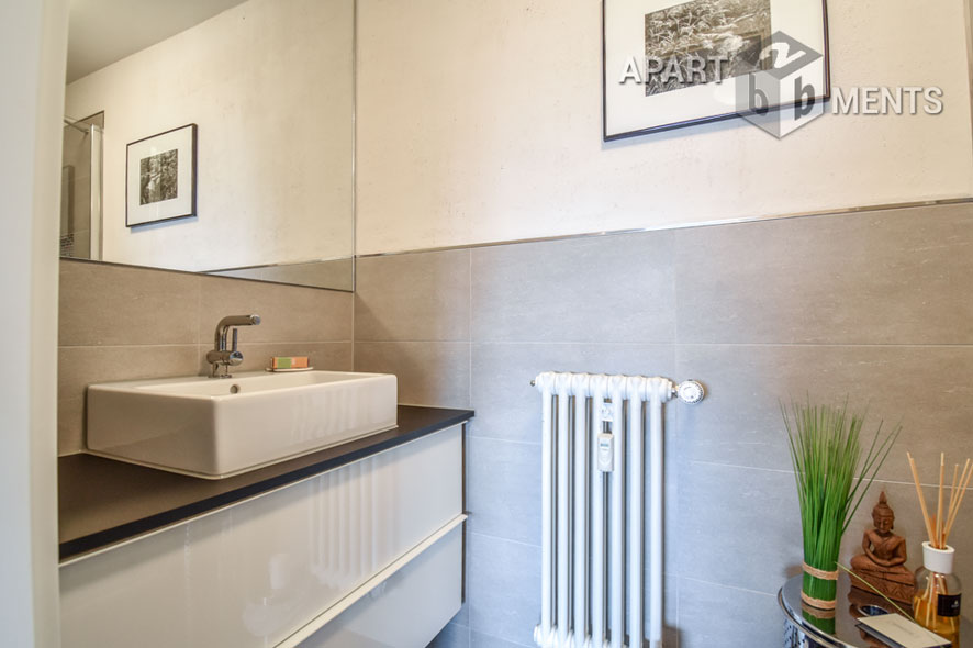 Stylish furnished apartment with large balcony and Rhine view in Cologne-Rodenkirchen