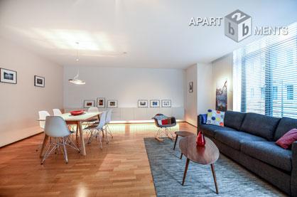 Stilvoll möblierte Wohnung mit Balkon in Köln-Altstadt-Süd