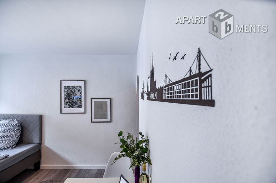 Furnished apartment in central location in Cologne-Altstadt-Süd