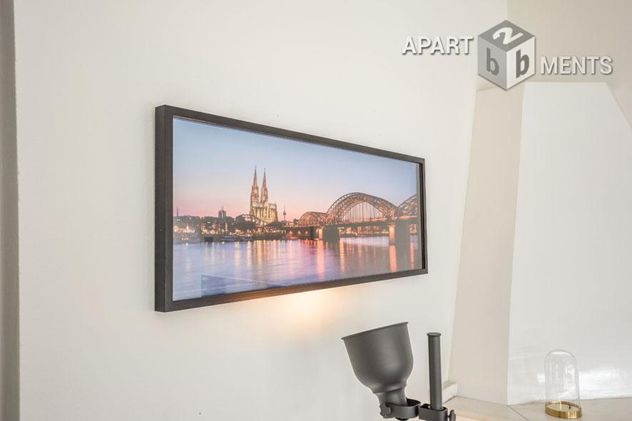 Modern möblierte Wohnung in bester Citylage mit großer Dachterrasse in Köln Atstadt-Nord